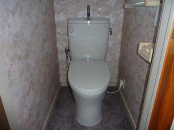 節水性の高くスッキリとしたデザインのトイレに