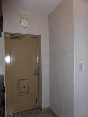 高級感あふれるタイル壁の玄関