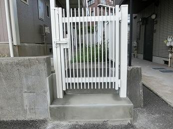 25年間使っていた門扉を新しく!