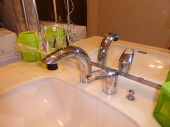 洗面台の水栓蛇口交換工事