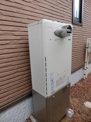 給湯器の交換にてエコジョーズを設置しました。