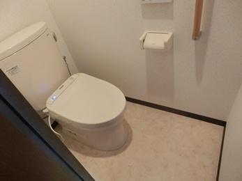 お掃除しやすく綺麗を保つ快適なトイレへ