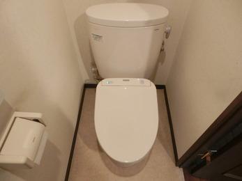 節水性の高い快適なトイレになりました。